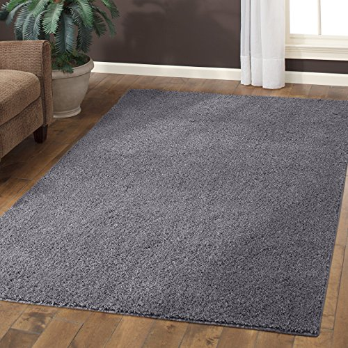Area Rugs, Maples Rugs [Made in USA][Catriona] 7' x 10' Non Slip Padded Large Rug for Living Room, Bedroom, and Dining Room - Grey Funnel