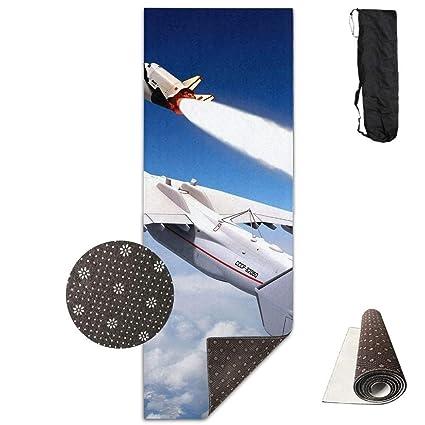 Amazon.com : wenhuamucai Aircraft Rocket Clouds Yoga Mat ...