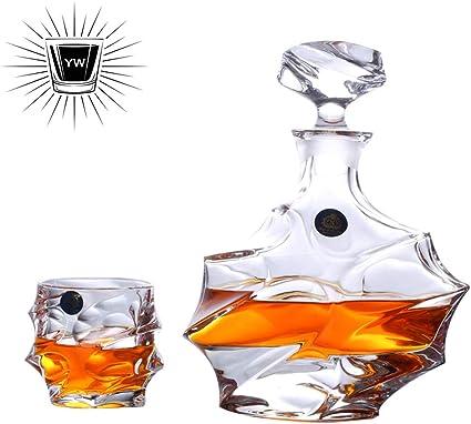 Whisky Decanter Set - Premium Glass Decanter Set, 7 Piezas ...