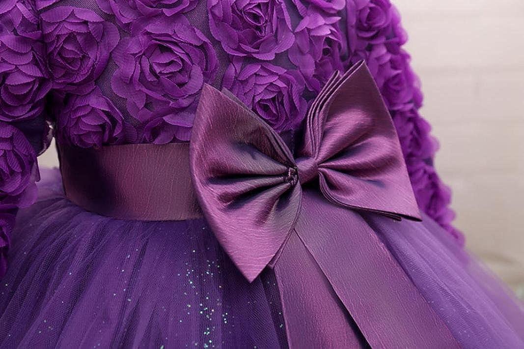 Lenfesh Baby M/ädchen Blumen Bowknot Prinzessin Kleider Brautjungfer Geburtstag Hochzeit Kleid