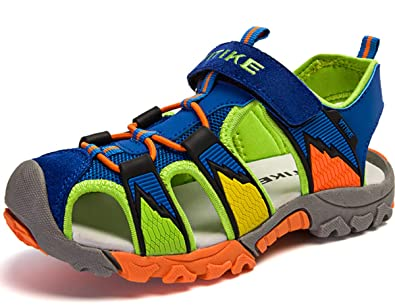 81863ee47391 Boys Sandals Kids Sandals Trekking Hiking Sandals Closed Toe Summer Beach  Shoes