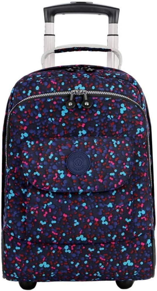 ファッショントロリーバックパックホイール、ラップトップスーツケース、防水性とウェアラブルの大容量トラベルバッグ(色:マルチカラー、サイズ:17インチ)