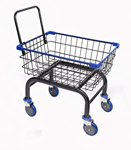 Cart&Supply Heavy Duty Household & Commercial Charcoal Grey Cart with U- Handle (Blue)