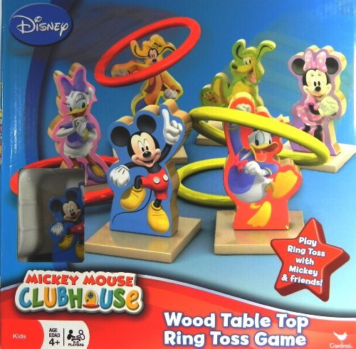 Cardinal Mickey Mouse Clubhouse Wood Table Top Ring Toss Game