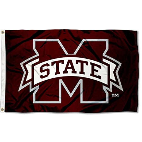 Mississippi State Bulldogs MSU University Large College Flag