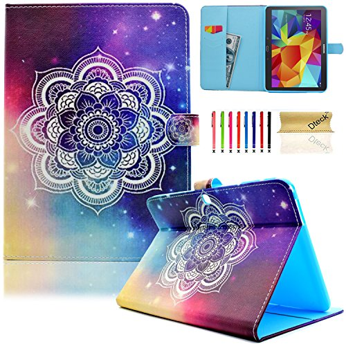 Galaxy Tab 4 10.1 Case,T530 Case,Dteck(TM) Slim Folio Stand Cover Case with Auto Wake/Sleep Feature Magnetic Smart Shell Case for Samsung Galaxy Tab 4 10.1 SM-T530NU T530 T531 T535,Shine Flower (360 Color Nook Case)