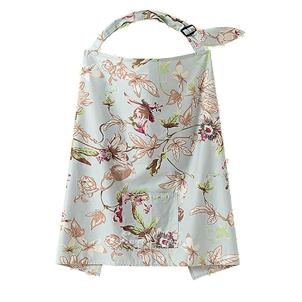 HuaYang Mum Mother Women Cotton Cover Baby Infant Breastfeeding Nursing Blanket Shawl - Floral Vane Pattern HuaYangca