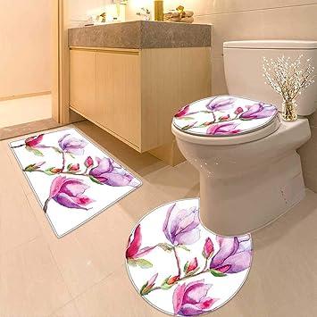 Amazon.com: Cojín de inodoro japonés con diseño de flor de ...