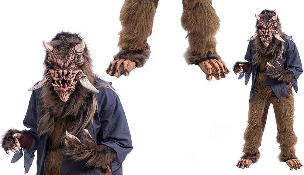 Beast Werewolf Haunted House Halloween Gloves Brown Zagone Studios Made In USA
