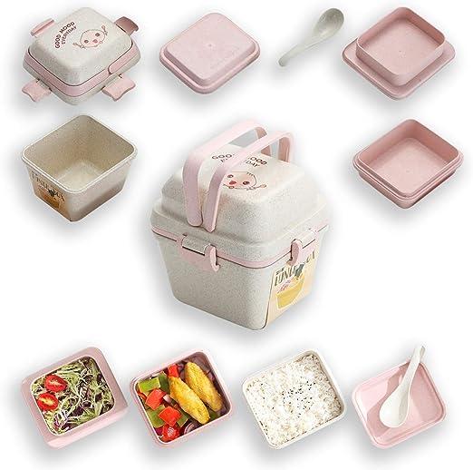Amazon.com: Kyraton Bento - Fiambrera para niños, 3 capas ...