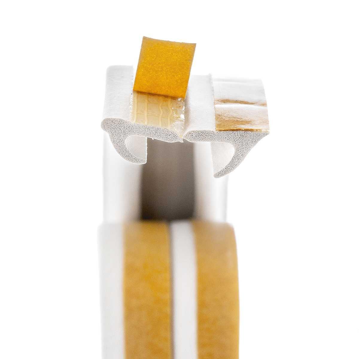 STEIGNER 5 m Joint de Fen/être Autocollant Profil V Blanc Joint en Caoutchouc EPDM Joint d/Étanch/éit/é