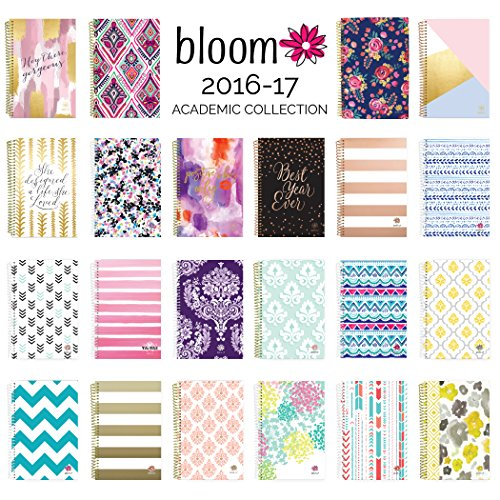 lovely bloom daily planners 2016 17 academic year daily planner