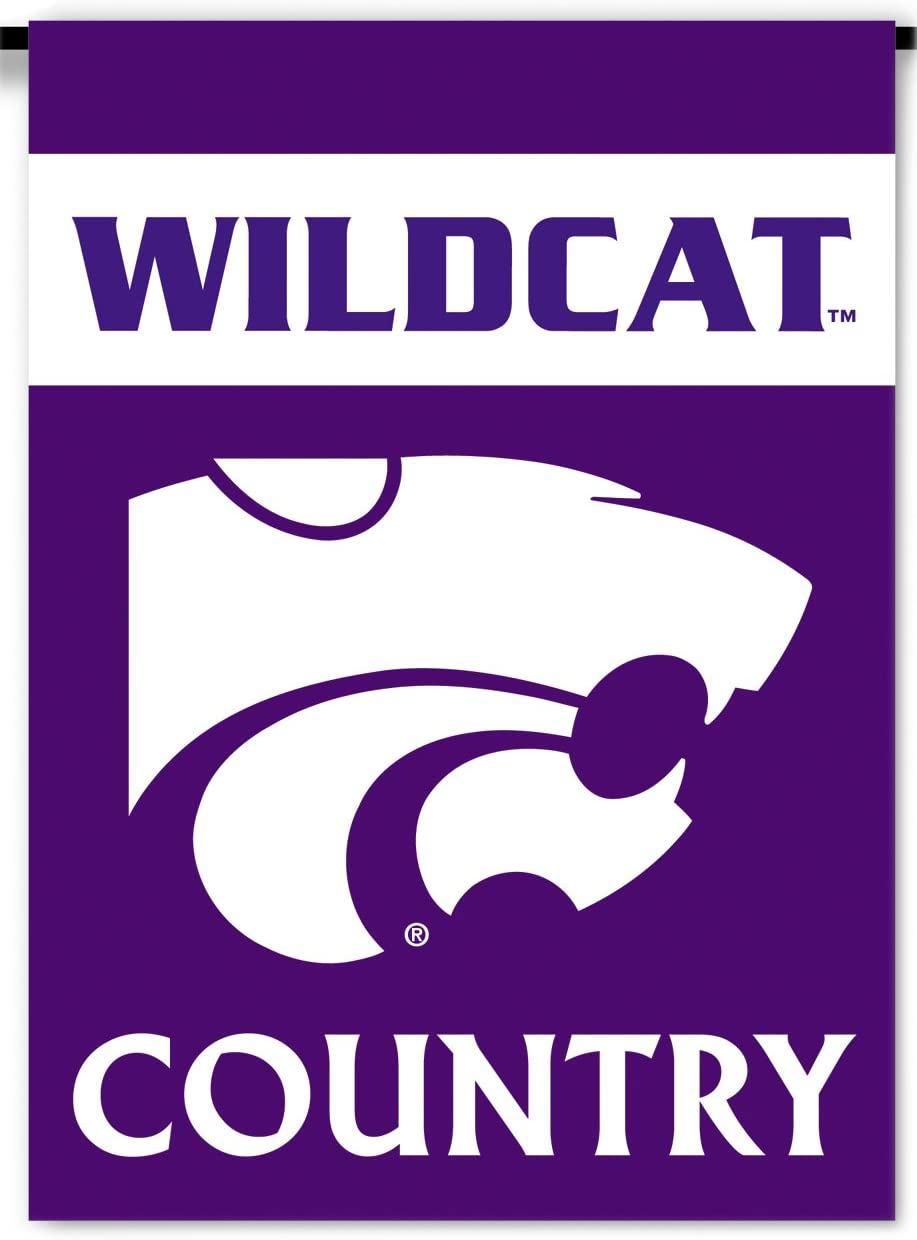NCAA Kansas State Wildcats 2-Sided Country Garden Flag, Team Color