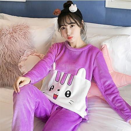 JYLW Pijamas Invierno Mujer Pijamas para Mujer Calientes ...