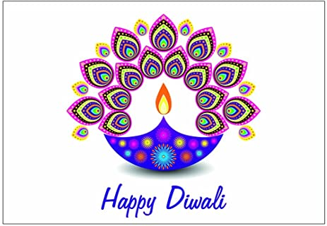 Amazon zaffron diwali holiday greeting cards diwali light zaffron diwali holiday greeting cards diwali light design 10 pack m4hsunfo
