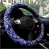 steering wheel cover cute - Rayauto Automotive Ethnic Flax Cloth Cute Elephant Universal Car Steering Wheel Cover
