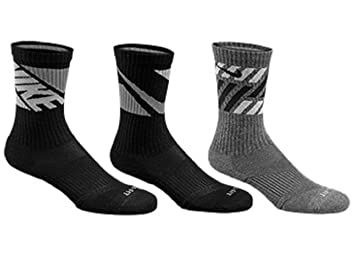 Amazon.com: Nike 3PK DRI-FIT Cushion Crew Calcetines para ...