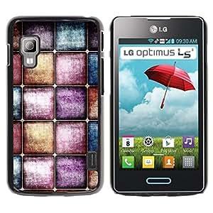TopCaseStore / la caja del caucho duro de la cubierta de protección de la piel - Wallpaper Modern Art Random Interior Design - LG Optimus L5 II Dual E455 E460