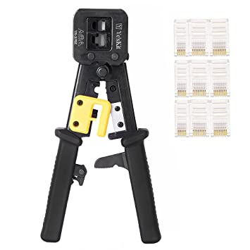 Crimp Stripper Tool, EletecPro Multifunction Wire Stripper Alicate trinquete RJ45 RJ11 RJ12 Crimp tool Crimping Stripping Alicates de corte: Amazon.es: ...