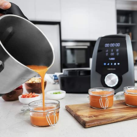 Cecotec Robot de Cocina Multifunción Mambo 7090. Capacidad 3.3L, Temperatura hasta 120ºC, Selección grado a grado, 10 Velocidades, Programable hasta 12h, Jarra apta Lavavajillas, 30 Funciones, 1700W.: Amazon.es: Hogar