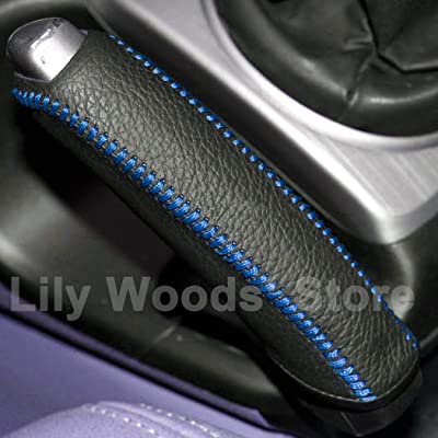 JI Loncky Black Genuine Leather Handbrake Cover for Honda Civic Old Civic 2006 2007 2008 2009 2010 2011 Accessories: Automotive