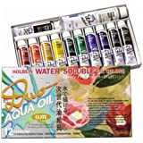 Holbein Duo Aqua Oil Color - Elite Color Set of 12 20 ml Tubes