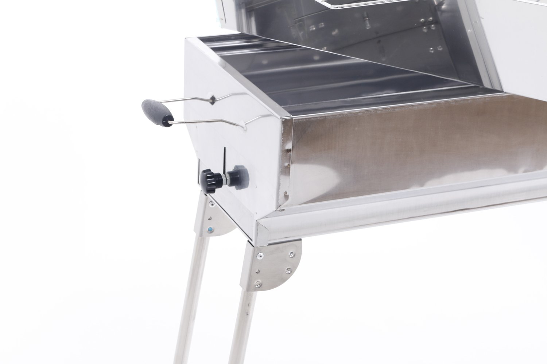 El Fuego Rauchfreier Holzkohlegrill Tulsa : Grillset edelstahl holzkohle grill mit kohlebehälter grillaufsatz