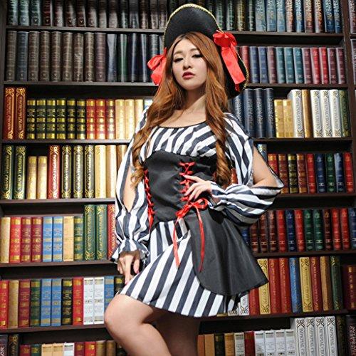 D Cautivador con DOLITY Capitán Encantador Sombrero Estilo Ayuda de Club Fiesta Vestido pxTrPEwp