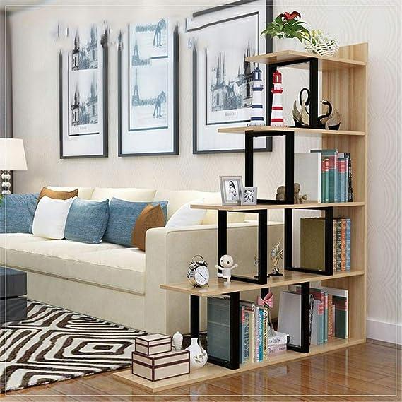 YQ WHJB Escalera Esquina Estantería De Pie para Libros,Suelo Pie Estante para Libros Nivel 4 Unidad De Estanterías con Marco Metálico Librería,de Acero Y Madera-a 80x30x120cm(31x12x47inch): Amazon.es: Hogar