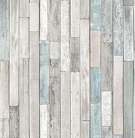 Brewster Wallcovering Co FD23273 Barn Board Grey Thin Plank Wallpaper, (Washable Wallpaper)