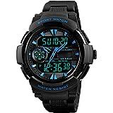 Digilog Black & Blue Bonds Multi Function Dual Time Analog-Digital Sports Watch for Men & Boys (1320 Blue).