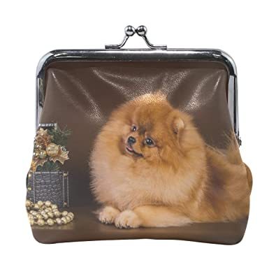 61dcb2a82128 Amazon.com: Rh Studio Coin Purse Spitz Casket Dog Down Puppy Print ...