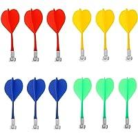 Dovewill 12 Piezas de Dardos Magnetico de Color Mezclado Duradero Reemplazable