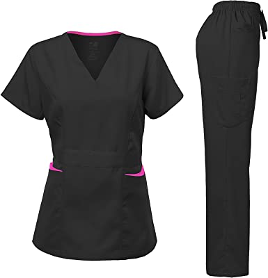 Ultra Soft Medical Nurse Uniform Womens Junior Fit Cargo Pocket Scrub Pant