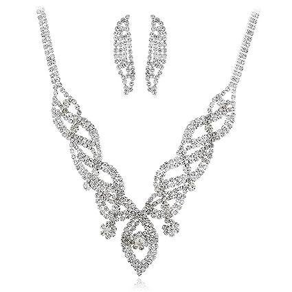 dcbb72a37305 Collar y pendientes bisutería conjunto de boda Conjunto de joyería ...