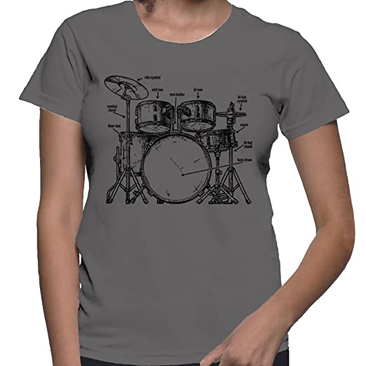 Amazon Womens Anatomy Of A Drumset T Shirt Clothing