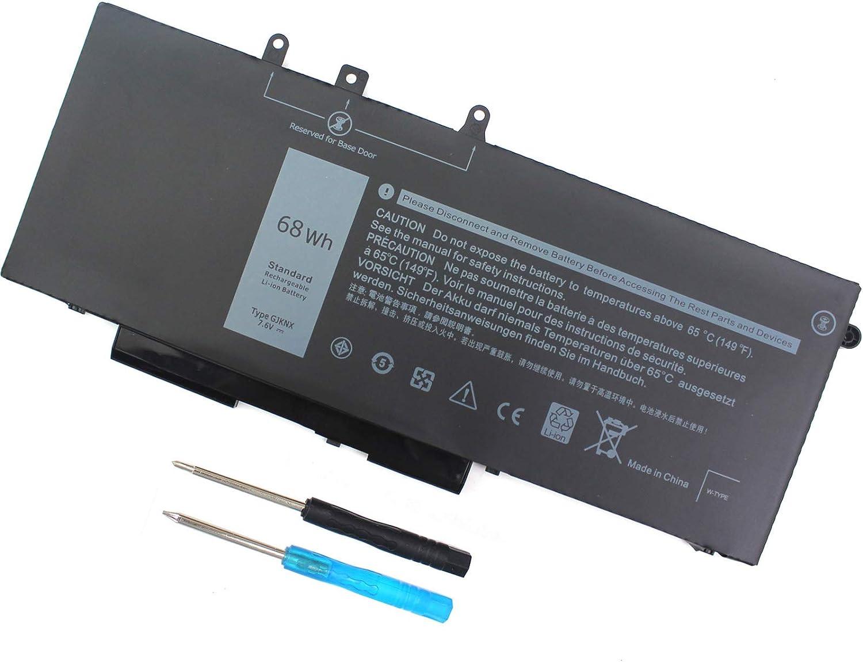 68WH GJKNX 451-BBZG Battery for Dell Latitude 5480 5580 5280 5590 5490 E5480 E5580 E5490 E5590 Precision 15 3520 3530 Series GD1JP 0GD1JP DY9NT 0DY9NT 5YHR4 P72G P60F P60F001 7.6V