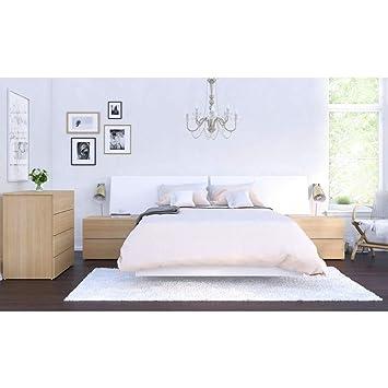 Amazon.com: Esker 5 Piece Full Size Bedroom Set Natural ...