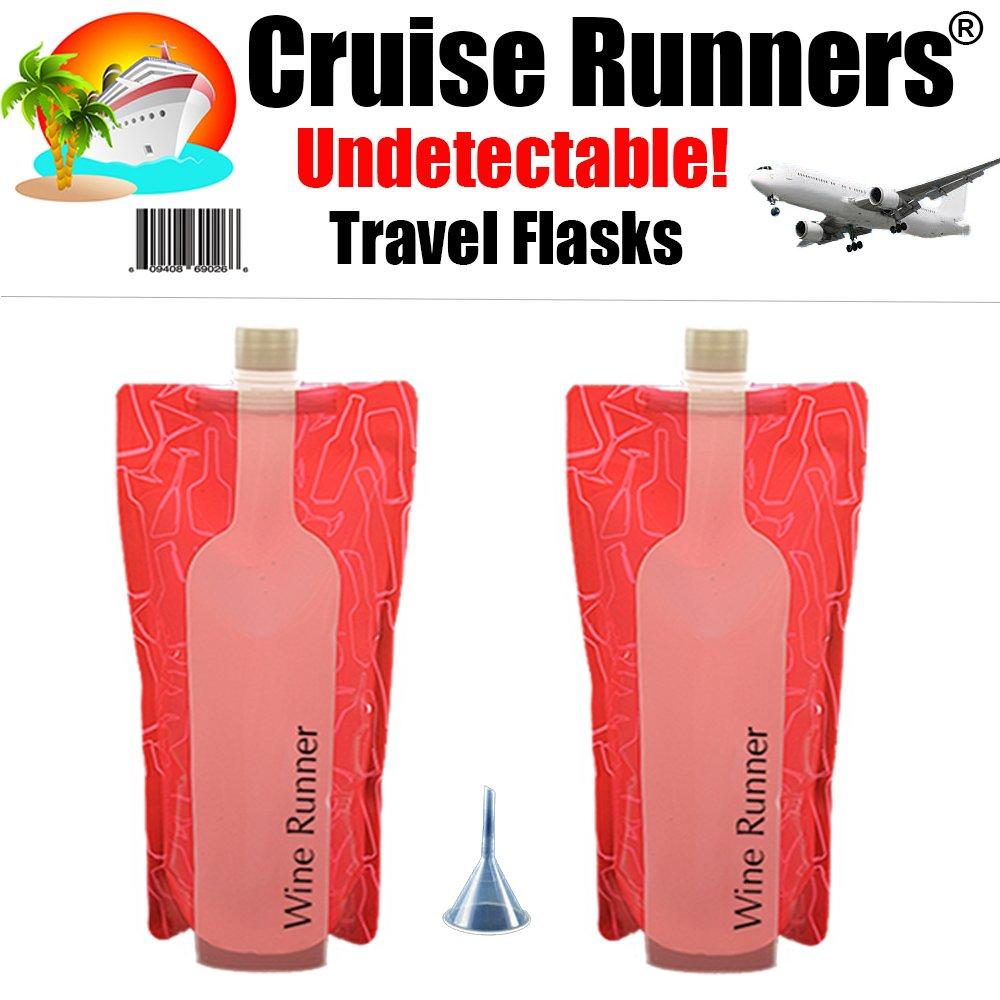 激安 Cruise Flask Runners Wine Sneak Flask Kit Sneak Smuggle B07B79GLNM Alcohol Concealable Plastic Hidden Holds 750ml ea. B07B79GLNM, フルグレース:78ee57eb --- a0267596.xsph.ru