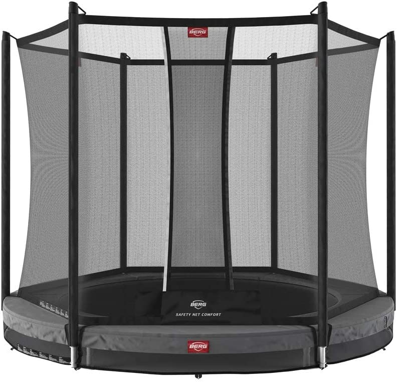 Berg Cama Elastica Favorit InGround 270 Grey con Red Protectora Safety Net Comfort