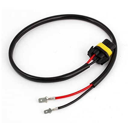 amazon com looyuan h1 h3 wire harness for installing hid ballast to Metal Halide Ballast Wiring Diagram at Hid Ballast To Stock Wiring Harness