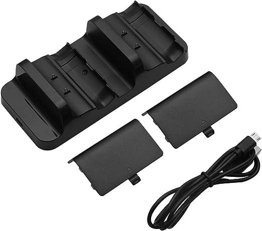 MXECO Cargador de Controlador de Base de Carga Dual Universal + 2 Piezas de baterías Recargables para Xbox One Batería Recargable Stander (Negro): Amazon.es: Hogar