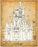 Cinderella's Castle - 11x14 Unframed Patent Print - Great Gift for Disney Fan