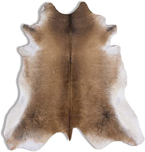 RODEO Silver Almond Brazilian Cowhide Rug