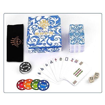 Hexiansheng Mahjong de plástico portátil Impermeable Jugando ...