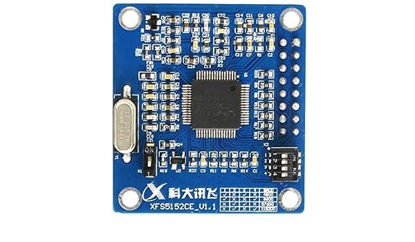 Providethebest XFS5152CE módulo de síntesis de Voz TTS de Voz Módulo de Soporte Encode Decode Realizado China Habla Inglés: Amazon.es: Electrónica