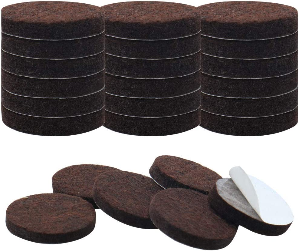 uxcell 24pcs Furniture Pads Round 1 1/4