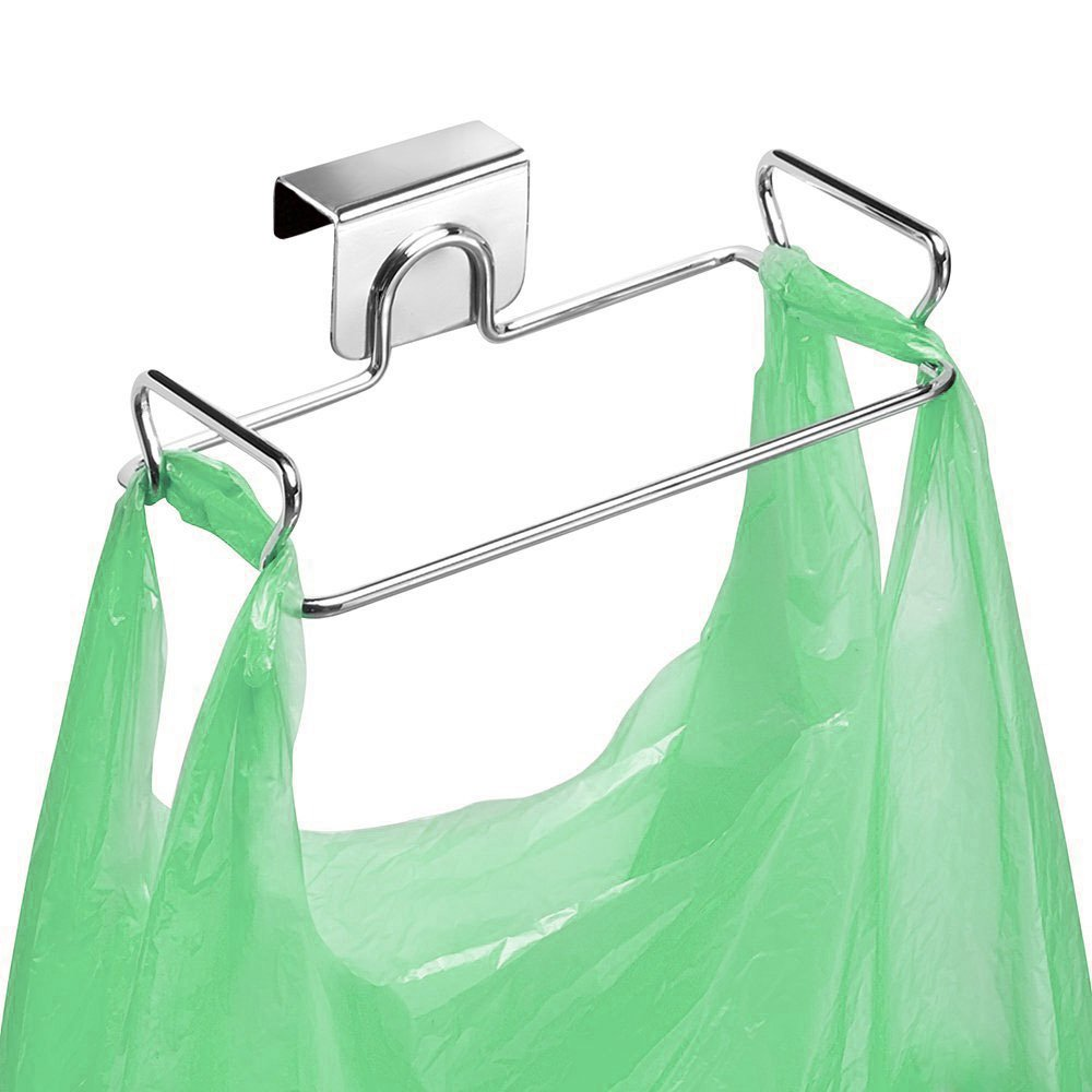 Large Stainless Steel Trash Bag Holder for Kitchen Cabinets Doors and Cupboards, Stainless Steel OYOY COMIN18JU071172
