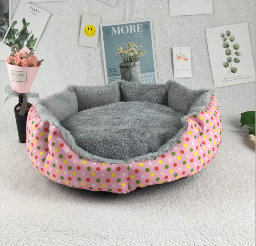 GZDXHN Perrera Invierno Calor Engrosamiento Arctic Cashmere Pet Nest Pequeño y mediano colchón para Perro=