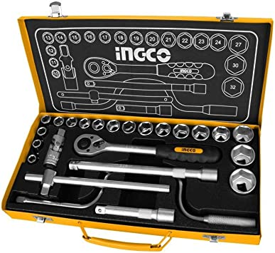 Ingco - Caja Herramientas Metalica Hkts0243: Amazon.es: Bricolaje ...